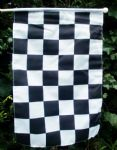 HAND WAVING FLAG - Black & White Checkered